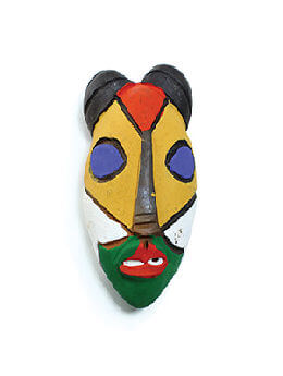Painted Clay Mask