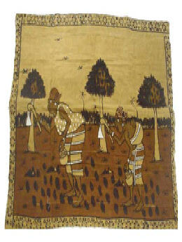 Giant Size Mud Cloth Painting