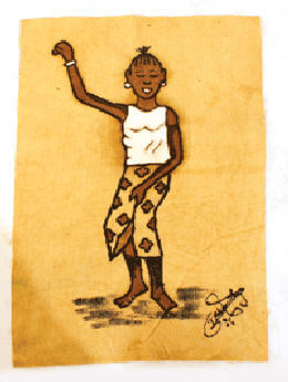 African Mud Painting