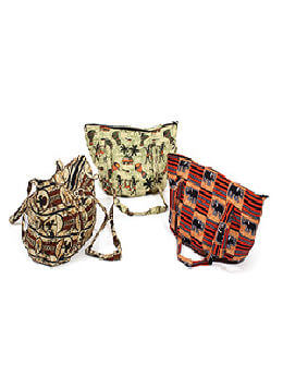 African Print Hand Bag - Assorted
