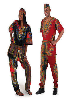 Traditional Print Dashiki/Pant Set