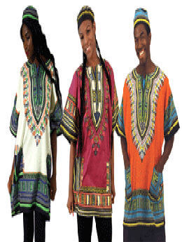 100% Cotton Dashikis