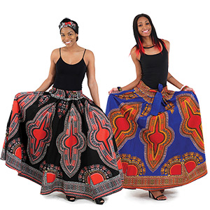 Traditional Print Maxi Skirt