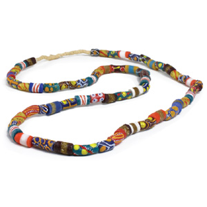 Ghana Trade Bead Long Necklace