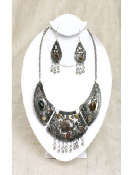 Mystical Stone Necklace & Earring Set