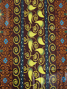 Dark Brown Enlightenment Fabric