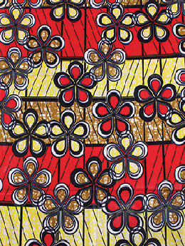 Red & Yellow African Print Fabric