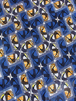 Blue African Print Fabric