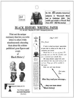 Black History Writing Paper (CD)