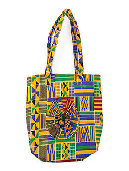 Kente Beauty-Bow Tote Bag