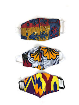 African Print Child-Size Face Masks