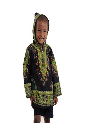 Kids Traditional Print Hoodie Jacket